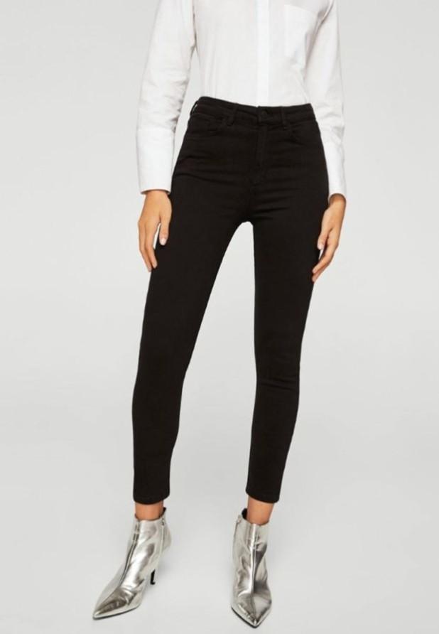 женские джинсы черные узкие