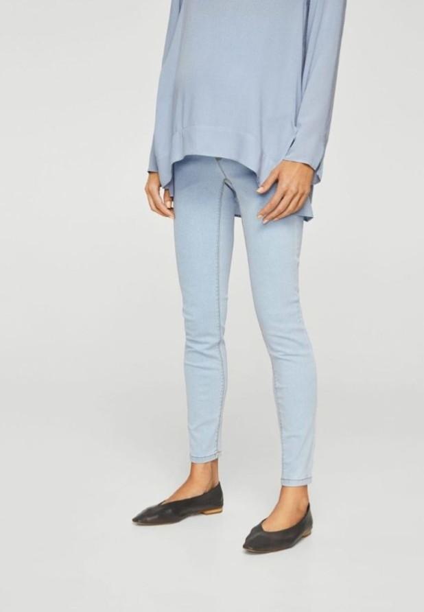 узкие женские джинсы голубые