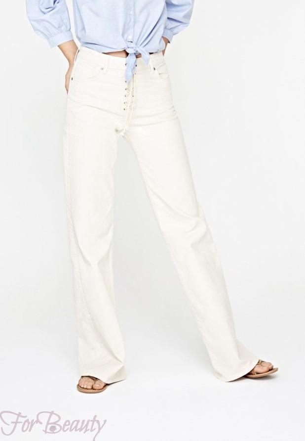 Модные белые женские джинсы 2018 года