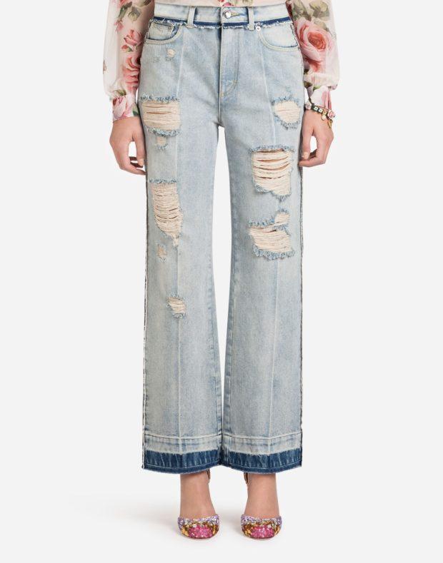 женские джинсы 2021-2022: рваные