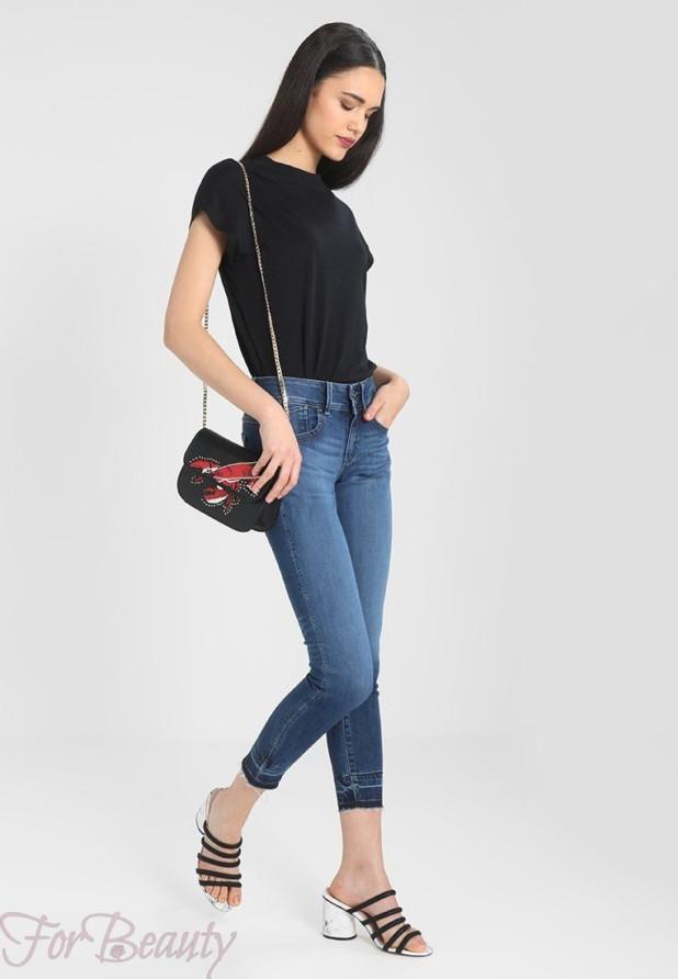 Модные женские джинсы-скинни 2018