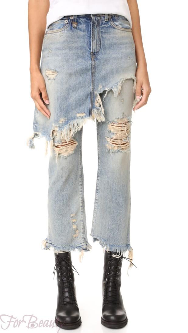 юбка поверх брюк 2018 года