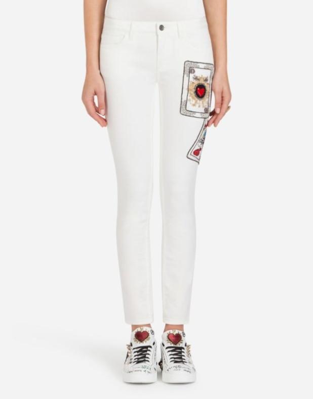 женские джинсы 2019-2020: белые