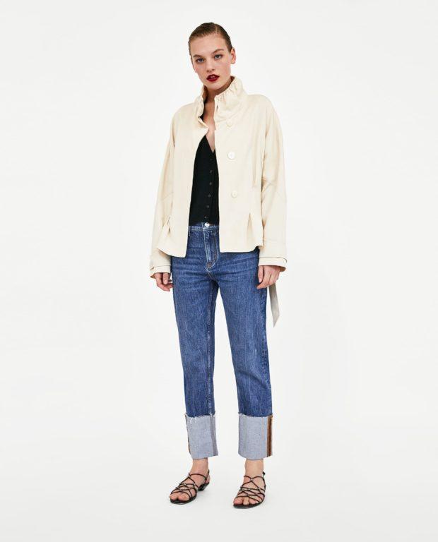 стильные женские джинсы: классические с подворотом