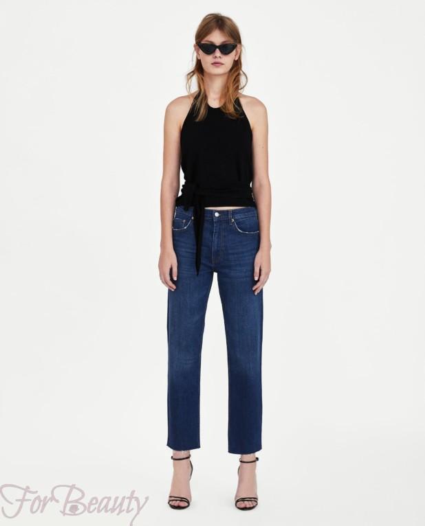 Модные женские классические джинсы 2018