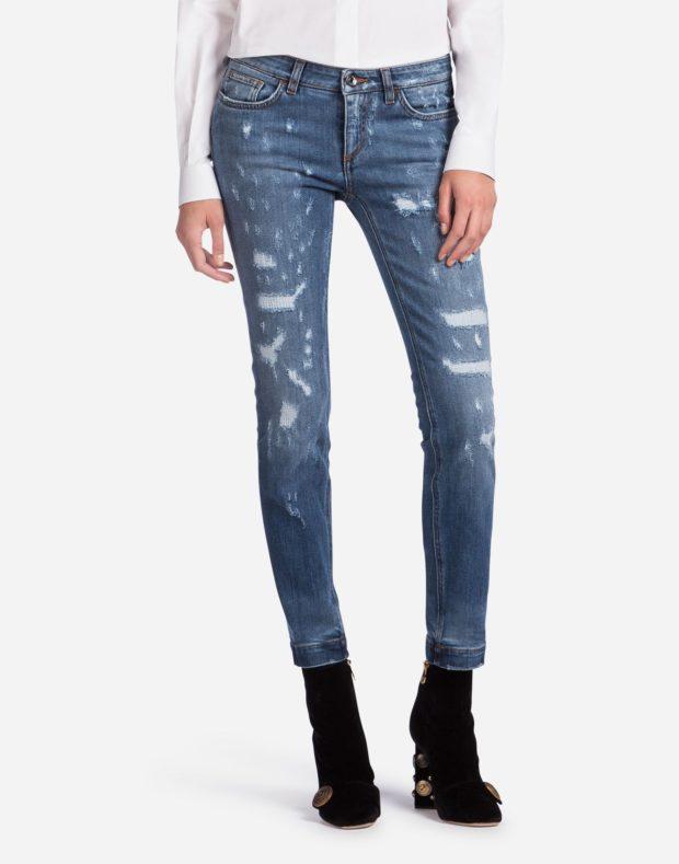 женские джинсы 2021-2022: синие
