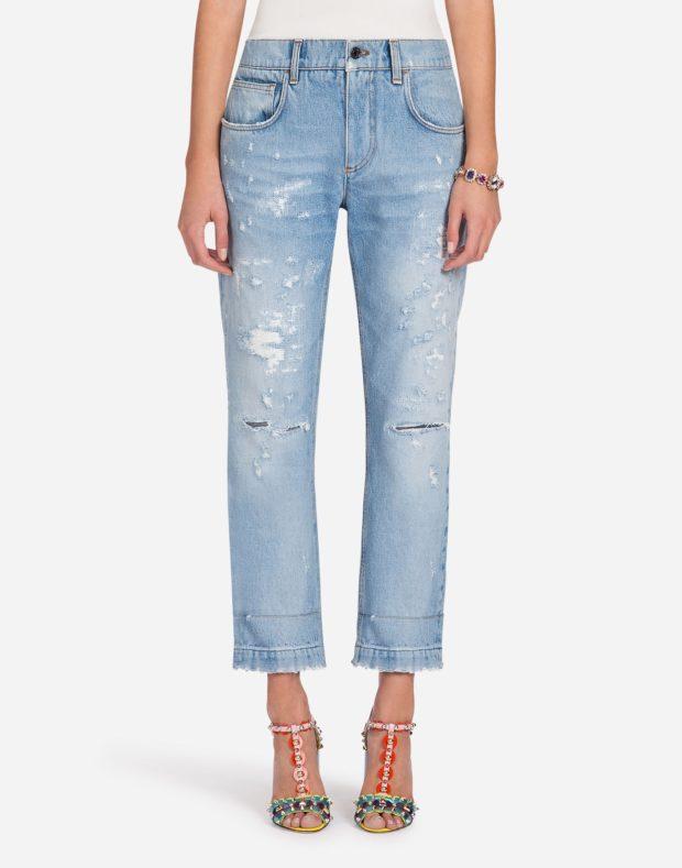 женские джинсы 2019-2020: голубые