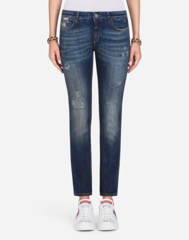 женские джинсы 2019-2020: синие