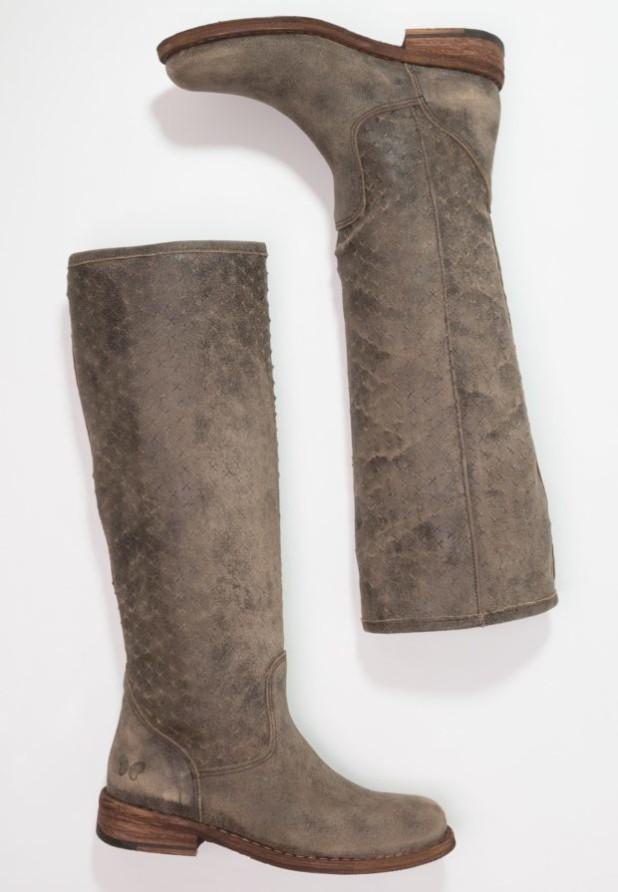 Модные серые женские сапоги осень зима 2018-2019