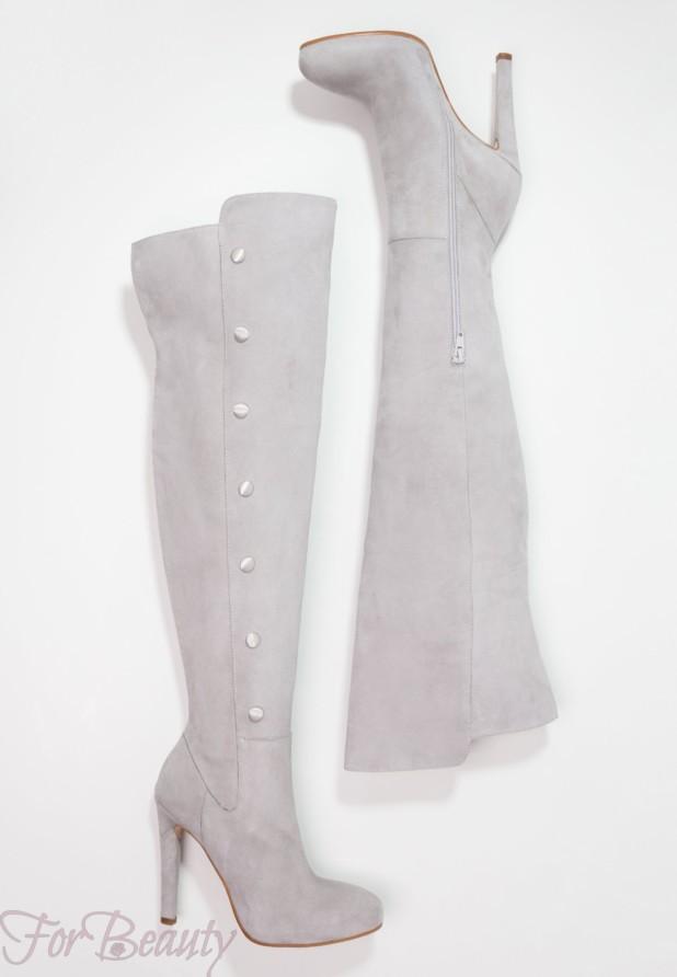 Модные серые женские сапоги осень зима 2018 2019