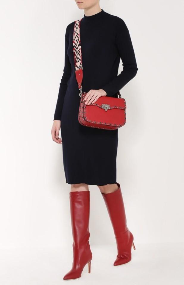 Модные красные сапоги на шпильке осень-зима 2018-2019