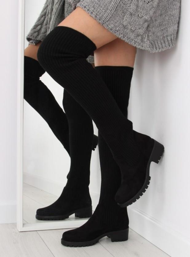 черные сапоги чулки