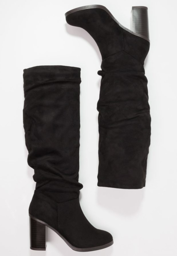 Модные черные женские сапоги осень зима 2018-2019