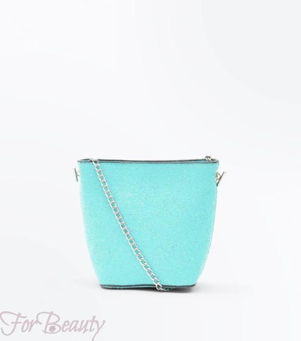 Модная голубая женская сумка 2018