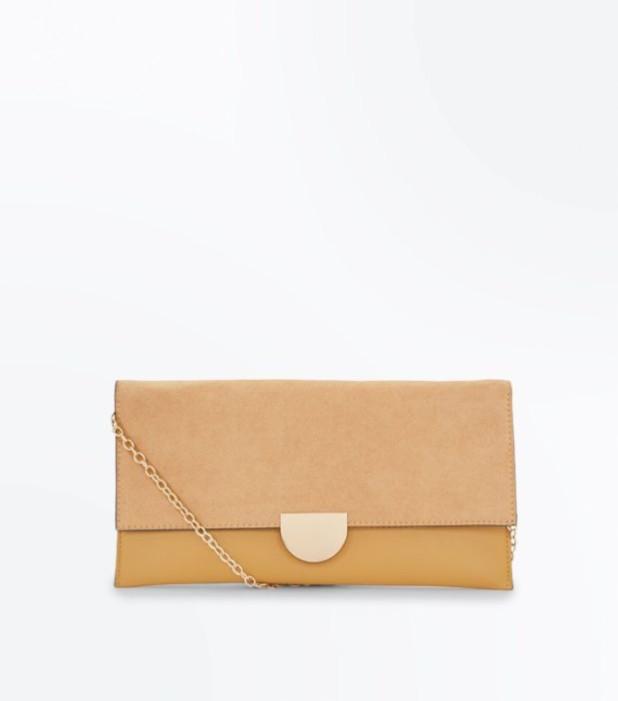 Модные сумки: коричневый женский клатч