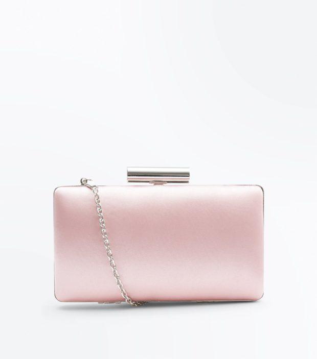 розовый женский клатч