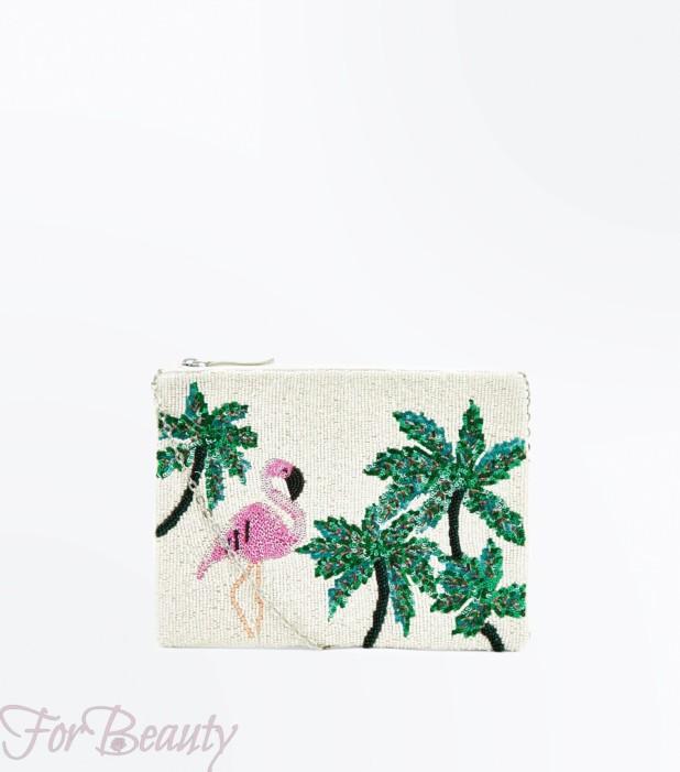 Модный цветастый женский клатч2018
