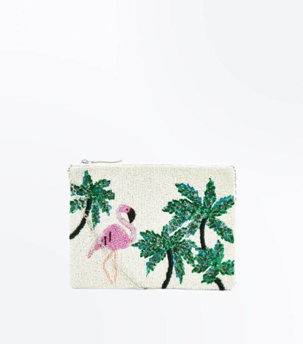 Модные сумки: цветастый женский клатч
