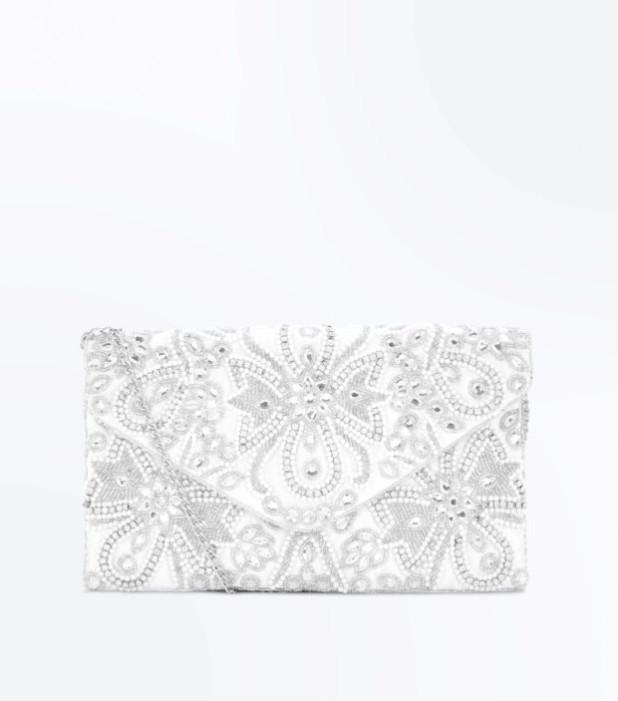 Модные сумки: белый женский клатч