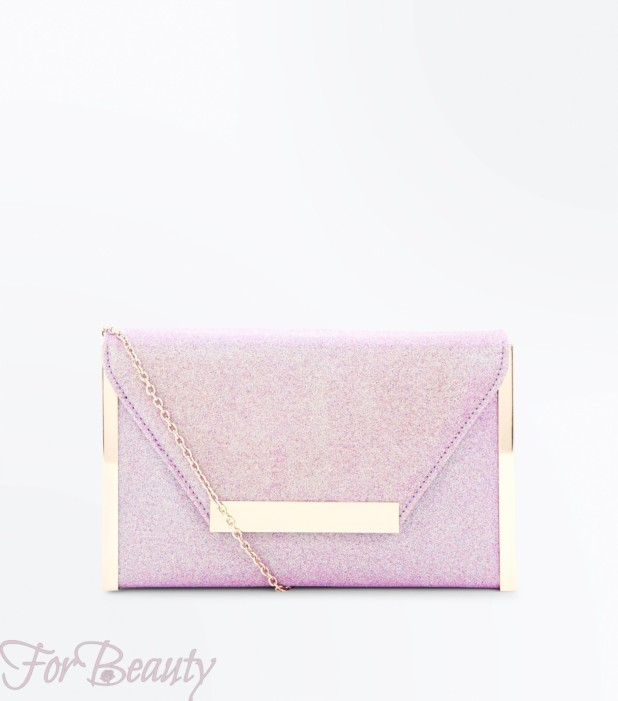 Модный розовый женский клатч2018