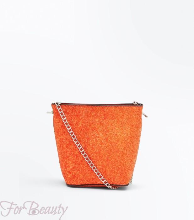 Модная оранжевая женская сумка 2018