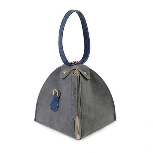 Модные сумки: серая женская треугольник
