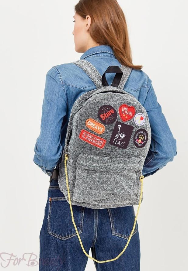 Модный серый женский сумка рюкзак 2018