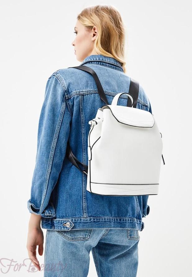 Модный белый женский сумка рюкзак 2018
