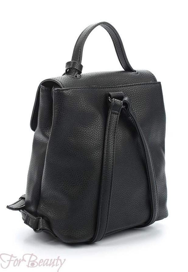 Модный черный женский сумка рюкзак 2018
