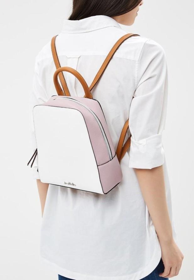 Модные женские сумки: белый рюкзак