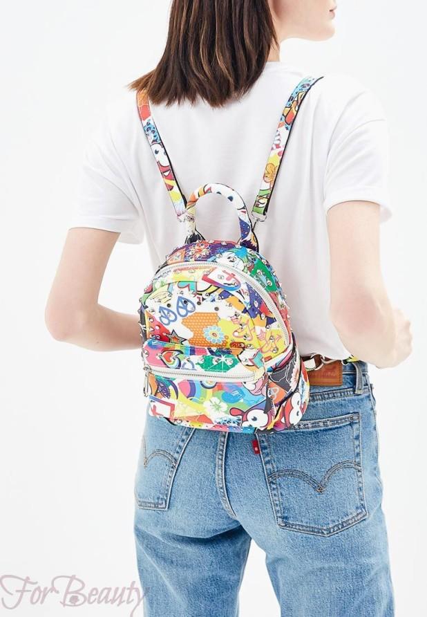 Модный цветастый женский сумка рюкзак 2018