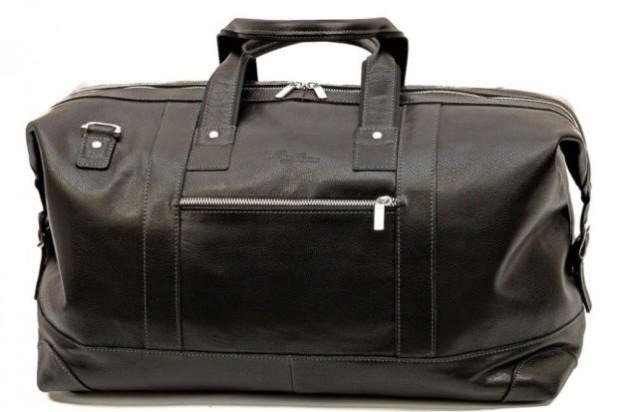 Модные женские сумки: черная саквояж