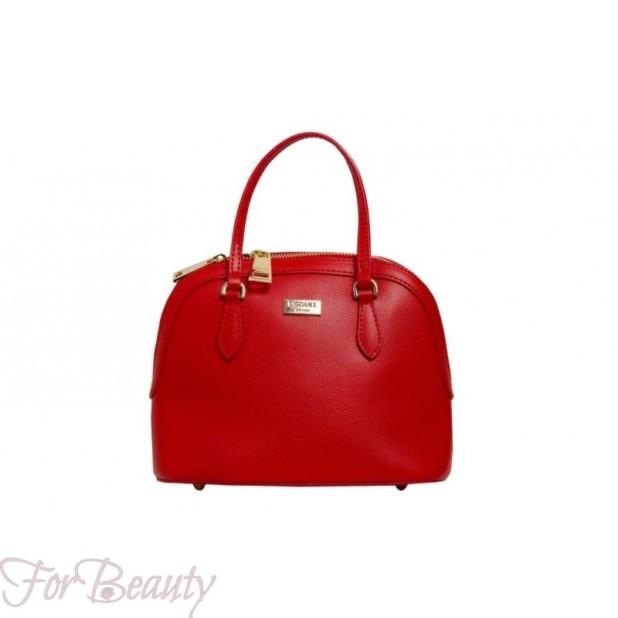 Модная красная женская сумка саквояж 2018