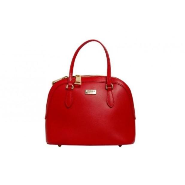 Модные женские сумки: красная саквояж