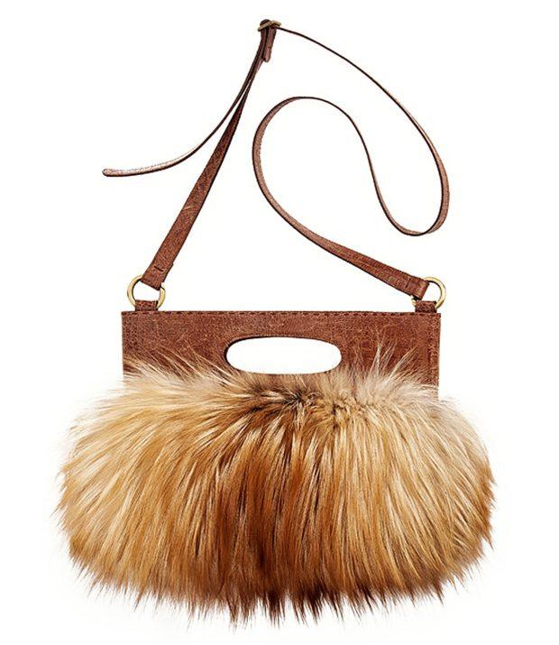 женская сумка из меха