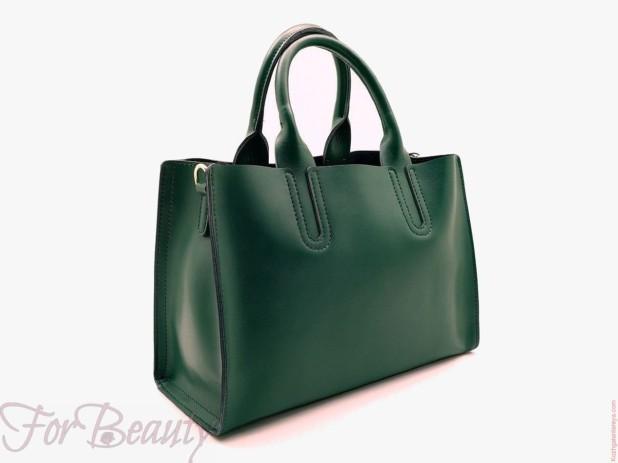 Модная зеленая женские сумкатоут2018