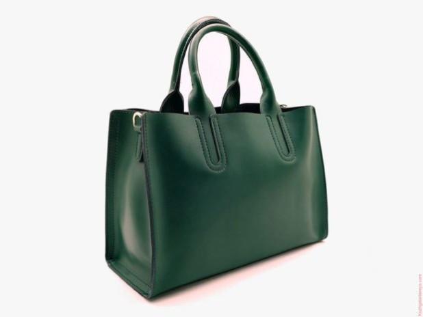 Модная зеленая женские сумкатоут