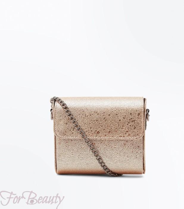 Модная золотая женская сумка 2018