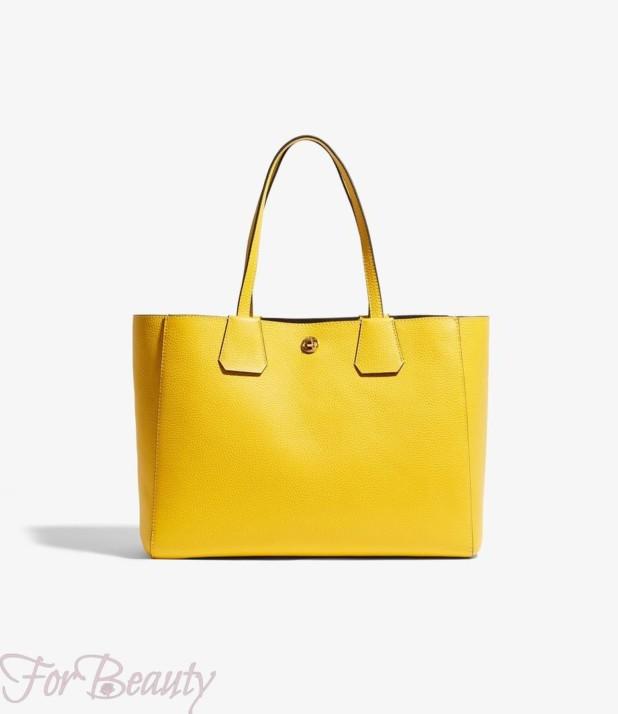 Модная желтая женские сумкатоут2018