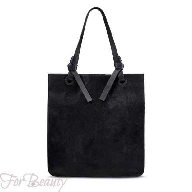 Модная черная женские сумкатоут2018