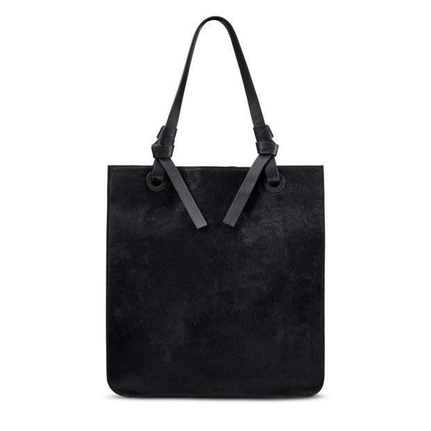 черная замшевая сумкатоут