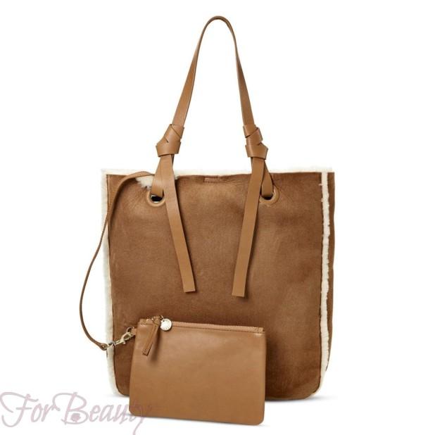 Модная коричневая женские сумкатоут2018