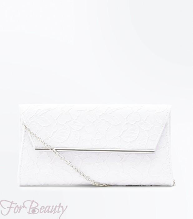 Модная белая женская сумка 2018