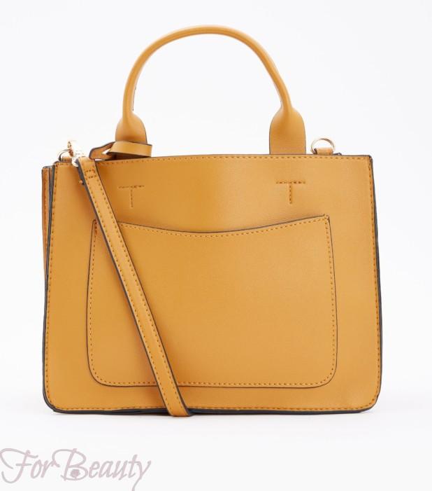 Модная коричневая женская сумка 2018