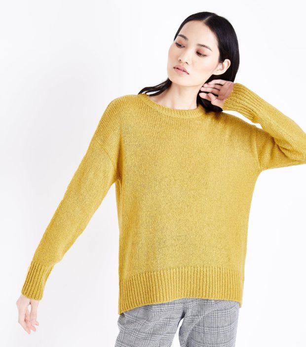 модные женские джемпера 2019-2020 фото: светло-желтый