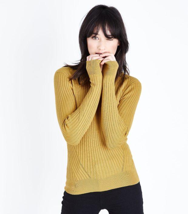 модные женские джемпера 2019-2020: светло-желтый
