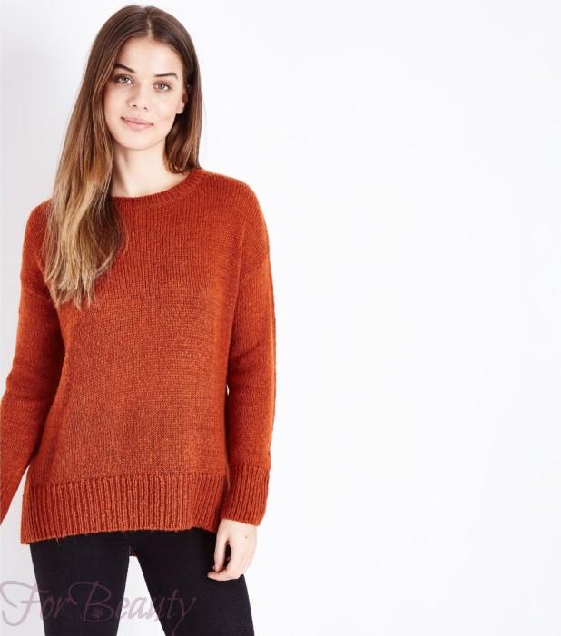 Модный коричневый свитер 2018