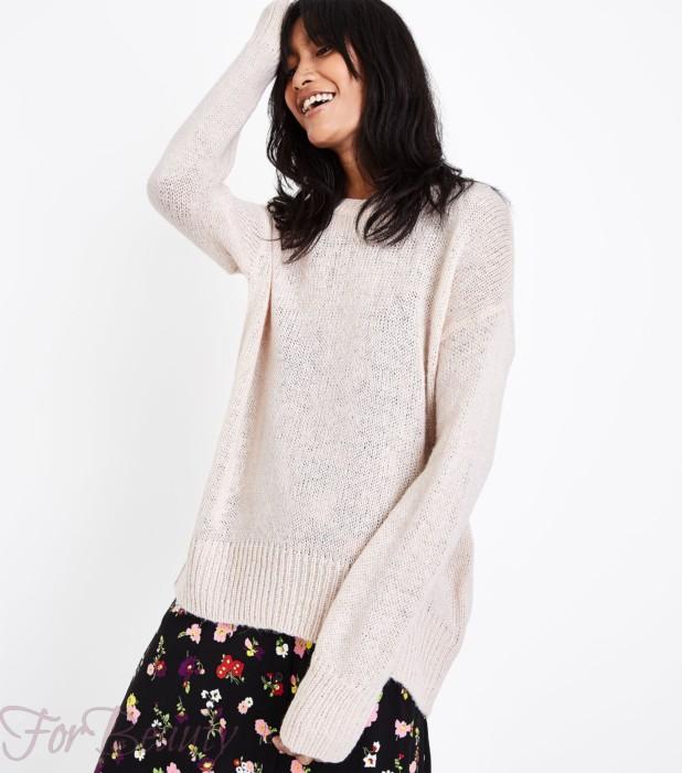 Модный розовый свитер 2018