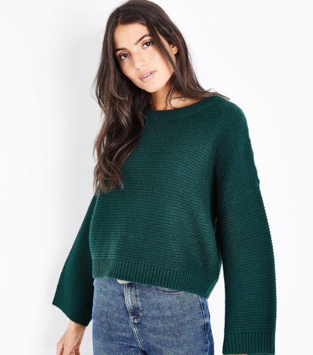 модные свитера осень 2019-2020 фото: зеленый