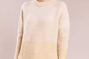 Модный бежевый свитер 2018